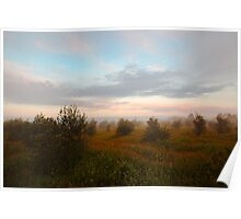 misty moroccan winter morning Poster