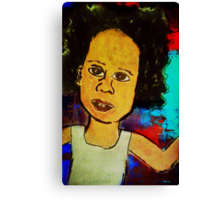 Afro Boy Canvas Print