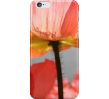 Pink poppy from below - 2011 iPhone Case/Skin