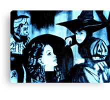 WIZARD OF OZ WITCHES CRYSTAL BALL Canvas Print