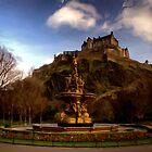 Ross Fountain & Castle - Princess Garden * by David Hutcheson