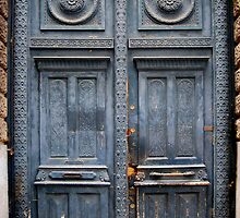 Blue Door - Lille by Karen Martin