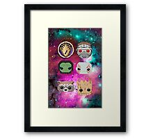 Pixel Guardians of the Galaxy Framed Print