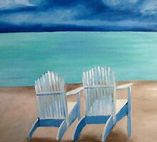 Two White Chairs by Marita McVeigh