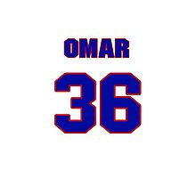 National baseball player Omar Daal jersey 36 Photographic Print