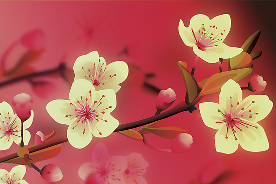 Yoshie blossom pink by Lara Allport