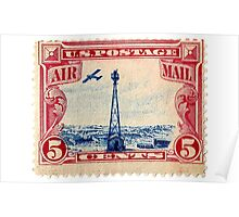 Air Mail Stamp Poster