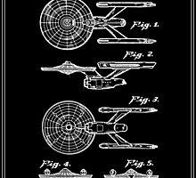 Enterprise Toy Figure Patent - Black by FinlayMcNevin