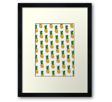 Pineapple Pattern Framed Print