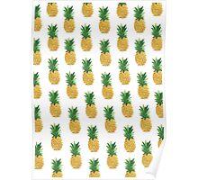 Pineapple Pattern Poster