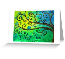 I love you hearts by Jan Marvin Greeting Card