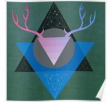 Geometric Hunter Poster