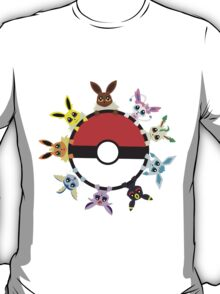 Eevee Evolution Ball T-Shirt