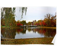 Fall in Boston Common Poster