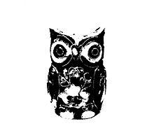 Mono Owl Photographic Print