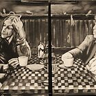 "iggy pop and tom waits,...""coffee and cigarettes"" by alan  sloey"