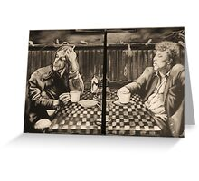 "iggy pop and tom waits,...""coffee and cigarettes"" Greeting Card"