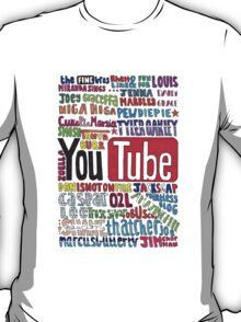 Youtube Colored Collage T-Shirt