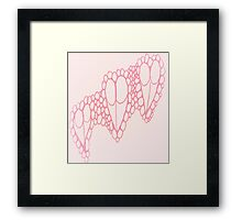 Pink Breasted Hearts Framed Print