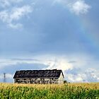 Barn with rainbow by Gotcha  Photography