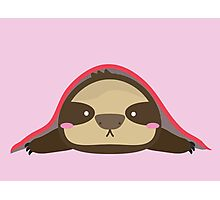 SLOTH UNDER BLANKET Photographic Print