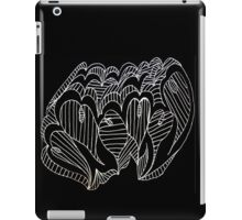 White Lined Hearts iPad Case/Skin