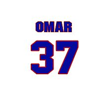 National baseball player Omar Daal jersey 37 Photographic Print