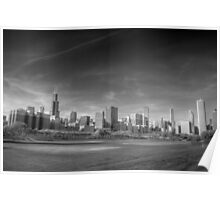 Chicago City Skyline From Grant Park Poster