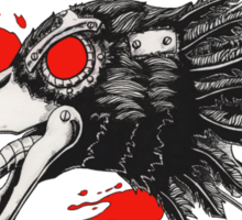Gearhead Crow Sticker