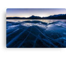 Ice Crater Canvas Print
