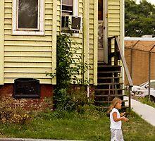girl, sidewalk by D. W.  Batterman