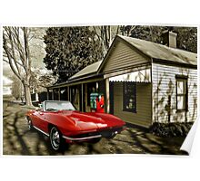 Little Red Corvette - A collaboration with Bill Dutting Poster
