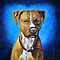 &#x27;Angel in Blue&#x27; - American Staffordshire Terrier by thatdogshop