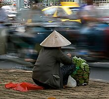 Roadside selling in Vietnam by Alastair Humphreys