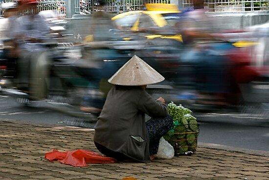 Roadside selling in Vietnam by Alastair Humphreys