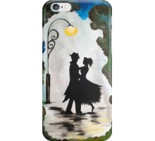 Dancing under the street lamp iPhone Case/Skin