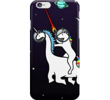 Unicorn Riding Dinocorn In Space iPhone Case/Skin