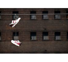 Shoes On A Wire Photographic Print