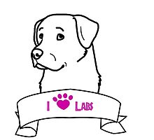 I Love Labs logo by ShelterStaffie