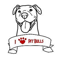 I Love Pit Bulls logo by ShelterStaffie