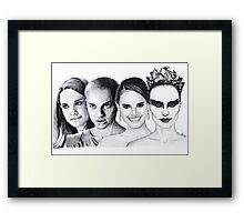 The Many Faces of Natalie Portman Framed Print