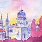 monastery watercolor by terezadelpilar~ art & architecture