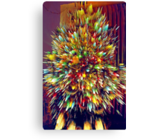Lighted Christmas Tree (3) - Digitally Altered Canvas Print