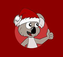 Cute Christmas koala cartoon by Radka Kavalcova