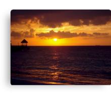 Sunset in Jamaica Canvas Print