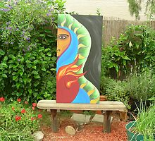 Art In The Garden - Half God Half  by K L Marshall