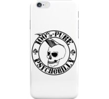 Pure Psychobilly - Black Stamp iPhone Case/Skin