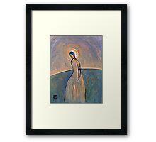 A saintly woman Framed Print