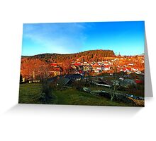 Village skyline in twilight | landscape photography Greeting Card