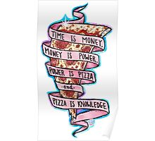 Pizza is Knowledge CutOut Poster